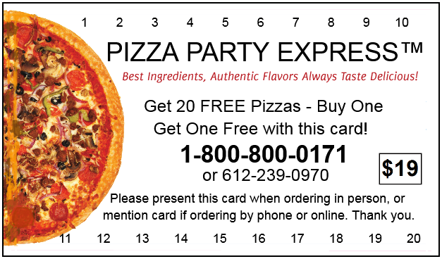Pizza Party Express card