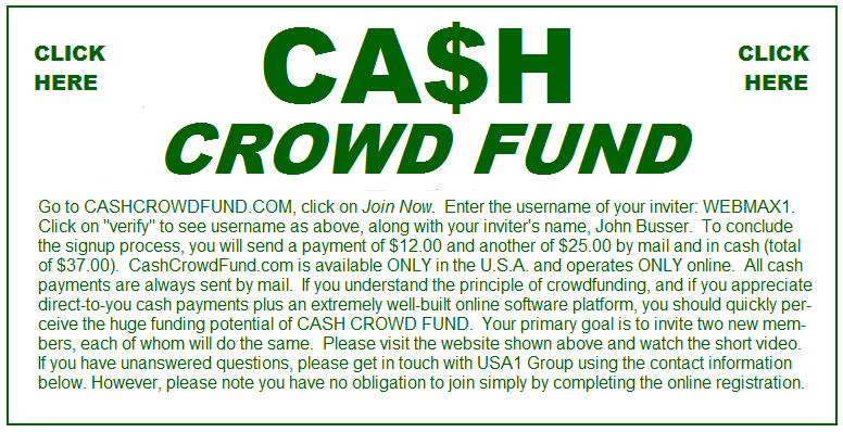 Cash Crowd Fund is a powerful way to achieve your goals!