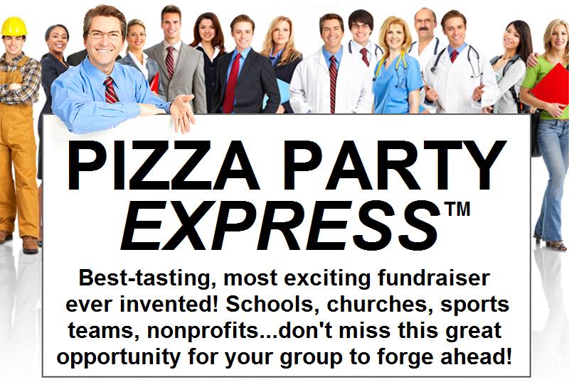 Pizza Party Express group sign